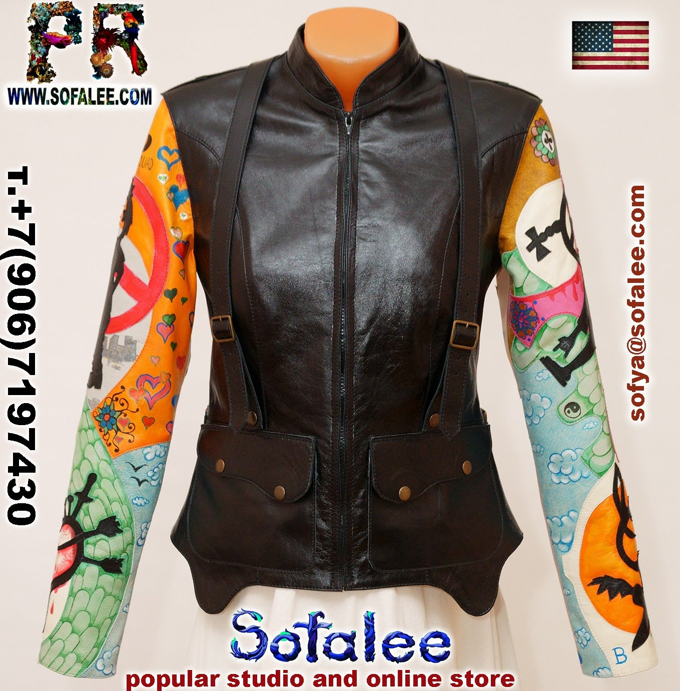 real leather jacket for women 011